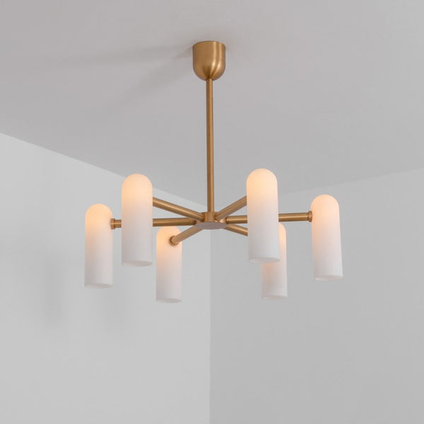 6 Light Odyssey Round Chandelier SM - Schwung-Luxury Lighting Boutique