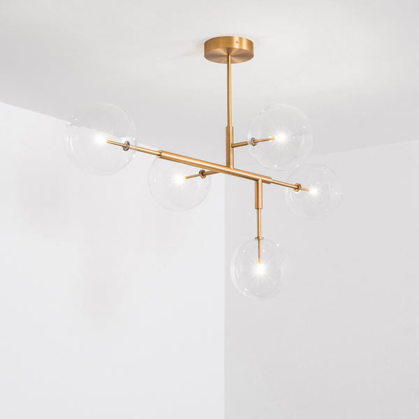 5 Light Axis Chandelier - Schwung-Luxury Lighting Boutique