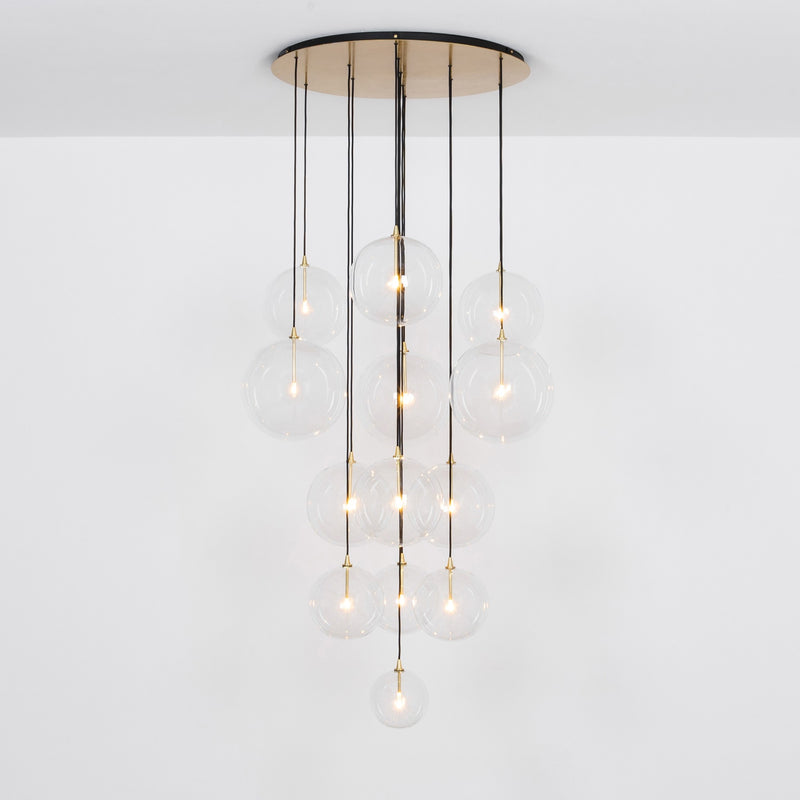 13 Light Cluster Chandelier - Schwung-Luxury Lighting Boutique