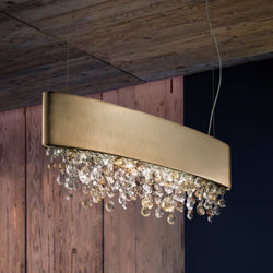 Modern 4 Light Suspended Elliptical Pendant - Masiero Ova S4 OV 100-Luxury Lighting Boutique