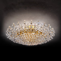 12 Light Maria Theresa Ceiling Mounted Crystal Chandelier - Masiero VE 919/PL12 MT-Luxury Lighting Boutique