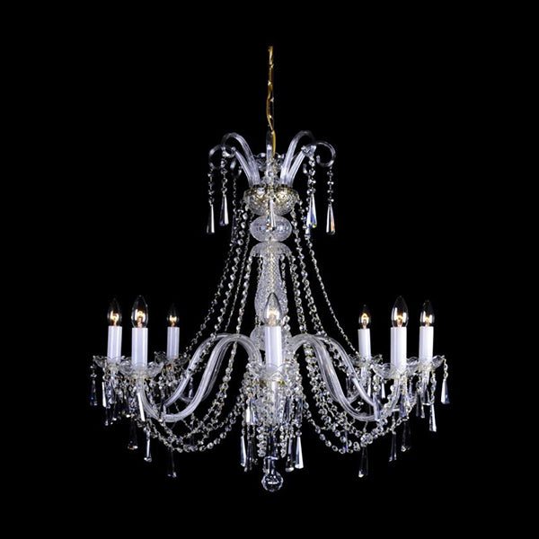 Aplomb - 8 Arm Crystal Chandelier