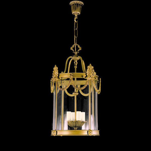 4 Light Gold Hall Lantern - Martinez Y Orts-Luxury Lighting Boutique