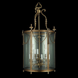 9 Light Brass Hall Lantern - Martinez Y Orts-Luxury Lighting Boutique