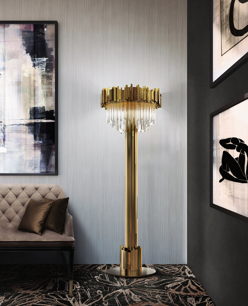 12 Light Empire Floor Lamp - Luxxu-Luxury Lighting Boutique