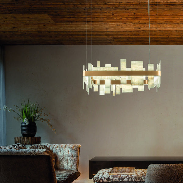 Modern Square Suspended Pendant  - Masiero Honice S80