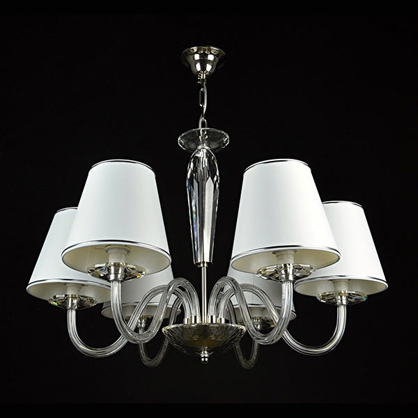 6 Arm Crystal Ceiling Light - Contempo-Luxury Lighting Boutique