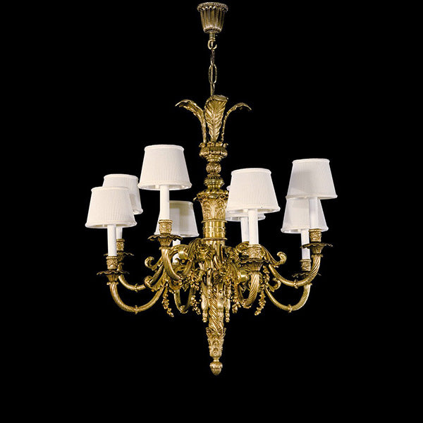 8 Light Brass Chandelier - Martinez Y Orts-Luxury Lighting Boutique