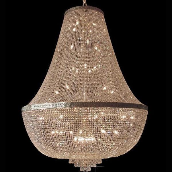 42 Light Crystal Basket Chandelier - Traditional-Luxury Lighting Boutique