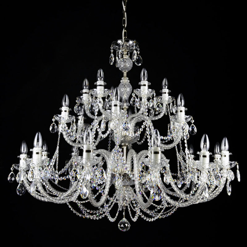 24 Light Coloured Crystal Chandelier - Oceana-Luxury Lighting Boutique