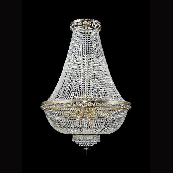 15 Light Crystal Basket Chandelier - Traditional