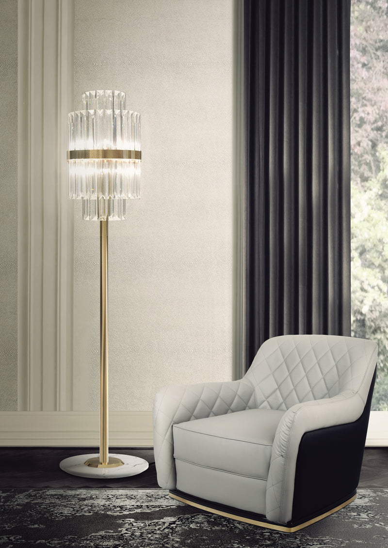 8 Light Liberty Floor Lamp - Luxxu-Luxury Lighting Boutique