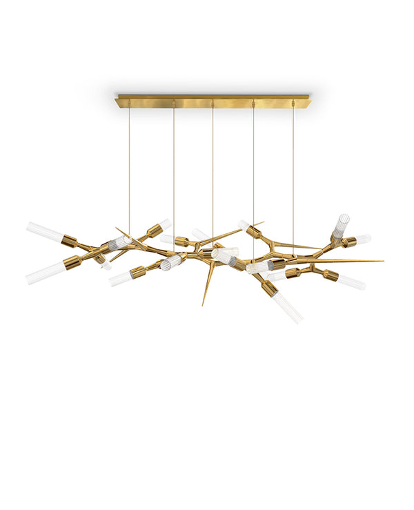 24 Light Shard Suspension Chandelier - Luxxu-Luxury Lighting Boutique