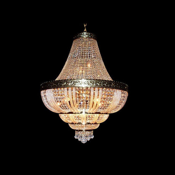 15 Light Basket Chandelier - Traditional