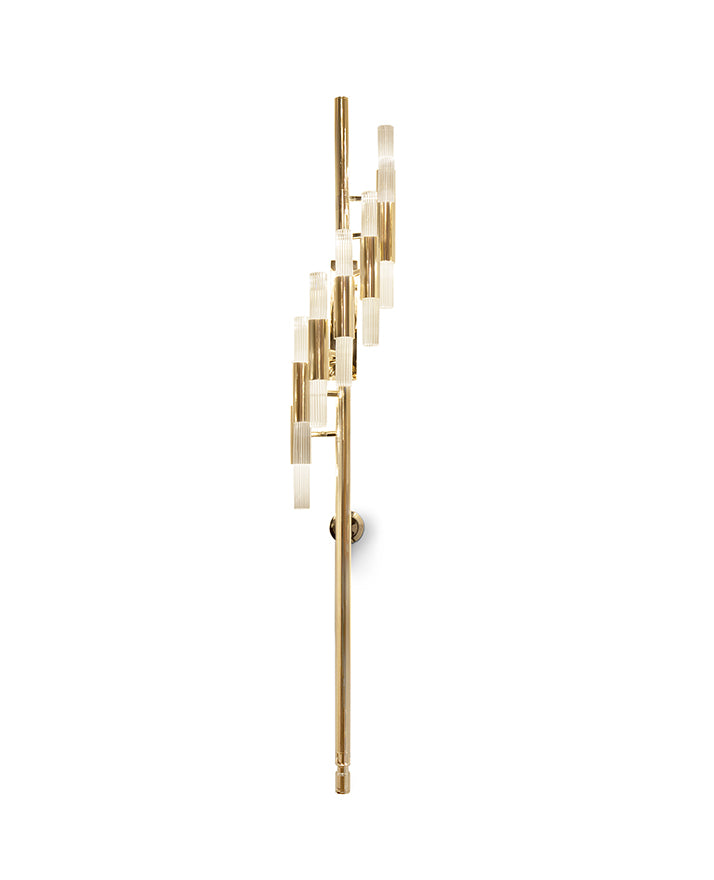 14 Light Waterfall Torch Wall Sconce - Luxxu-Luxury Lighting Boutique