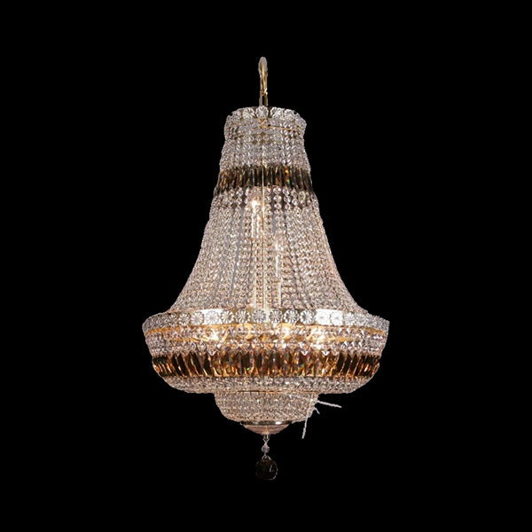 9 Light Crystal Basket Chandelier - Traditional