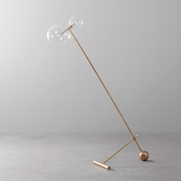 Zosia Brass Floor Lamp - Schwung-Luxury Lighting Boutique