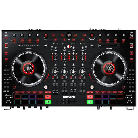 Numark NS6II 4-Channel DJ Controller with Numark HF325 DJ Headphones Bundle