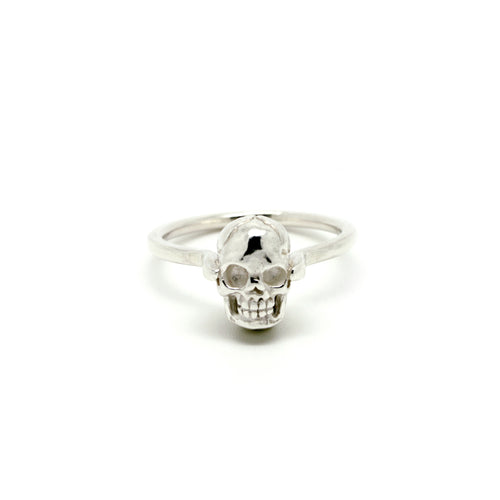 Small Skull Solitaire Ring