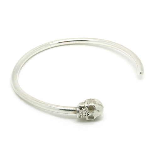 Small Solid Skull Torque Bangle