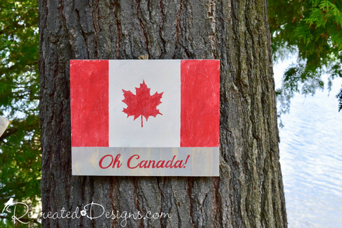 Oh Canada Flag Sign