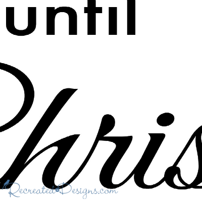 Until Christmas.Days Until Christmas Cursive Script