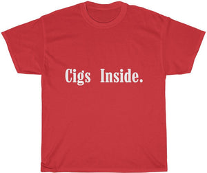 red cigarette t-shirt