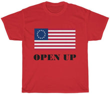 Load image into Gallery viewer, Open Up America Flag T Shirt Unisex Adult