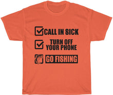Load image into Gallery viewer, yeah guy go fishing t-shirt
