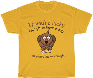 yeah guy lucky dog owner t-shirt