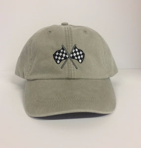 Nascar Checkered Flag Embroidered Dad Hat (Finish First)