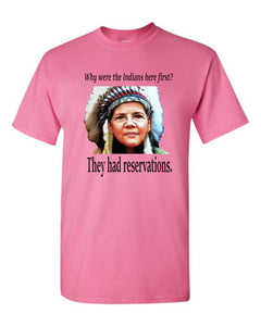 Pink Elizabeth Warren Indian Shirt