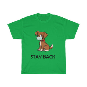 Stay Back Social Distance Dog T Shirt Adult Unisex