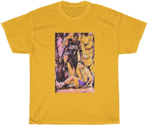Gold allen iverson step over t-shirt