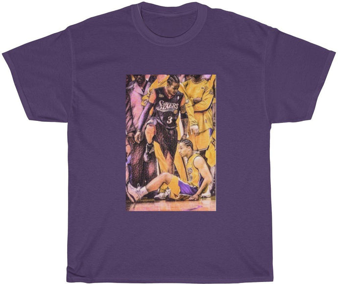 purple allen iverson step over t-shirt