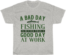 Load image into Gallery viewer, fishing over work t-shirt