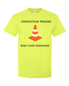 construction worker shirt safety green