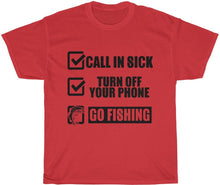 Load image into Gallery viewer, gone fishin shirt
