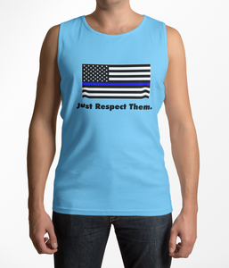 Respect the Police Tank Top | Unisex Adult | Blue Lives Matter Support Pro Cop