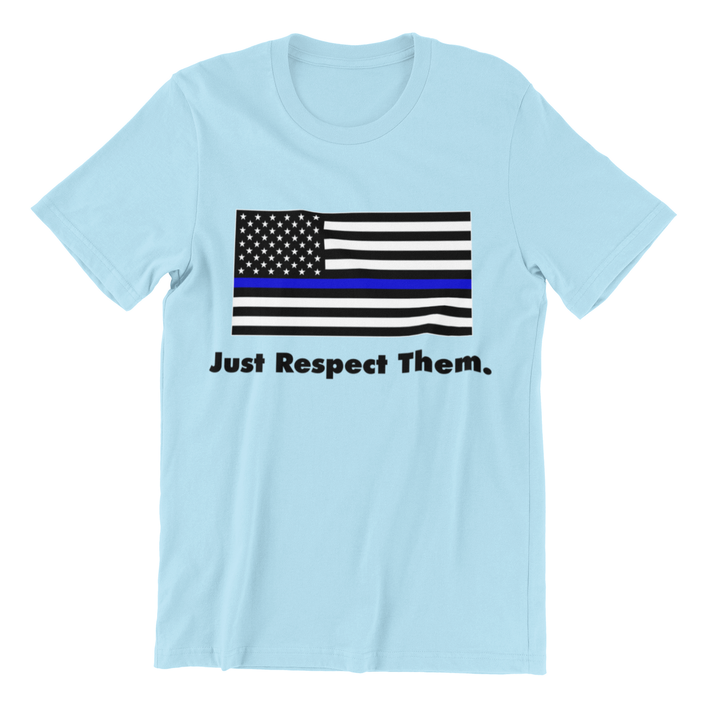 Respect the Police T-Shirt | Blue Lives Matter Support Pro Cop