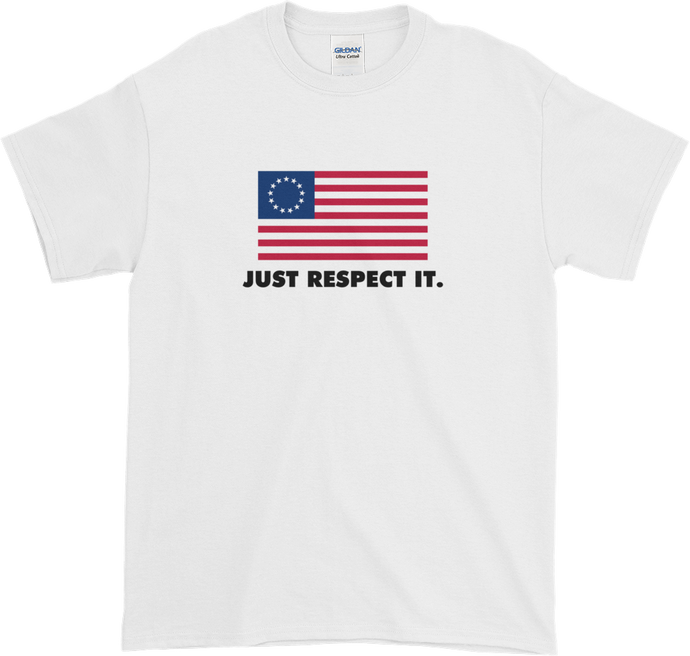 Betsy Ross Flag T Shirt (Respect It)
