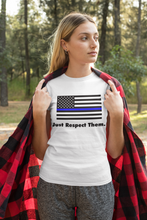 Load image into Gallery viewer, Respect the Police T-Shirt | Blue Lives Matter Support Pro Cop