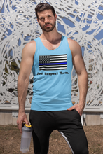 Load image into Gallery viewer, Respect the Police Tank Top | Unisex Adult | Blue Lives Matter Support Pro Cop