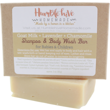 Goat Milk Shampoo & Body Bar for Babies & Children- Lavender & Chamomile (3 oz.)
