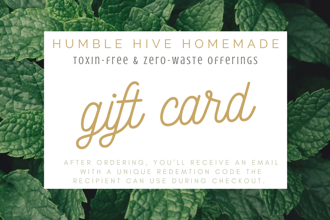 Humble hive Homemade Gift Card