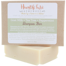 Goat Milk Shampoo Bar- Tea Tree & Peppermint (3 oz.)