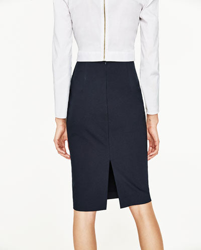 PENCIL SKIRT WITH FRONT KNOT ZARA - تنوره من زارا