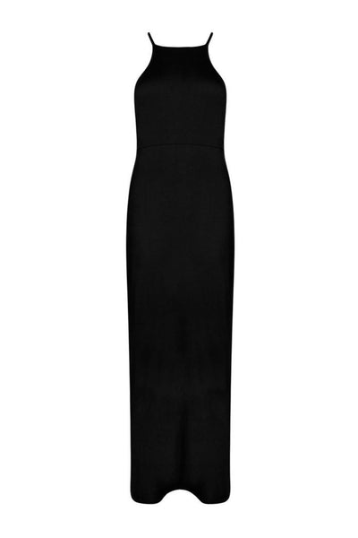 Daria Back Lace Up Tie Maxi Dress - فستان ماكسي داريا باك