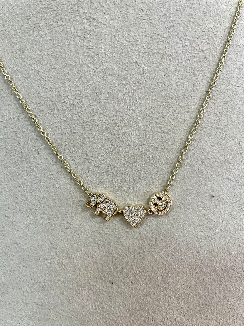 Sydney Evan Happy Charm Necklace