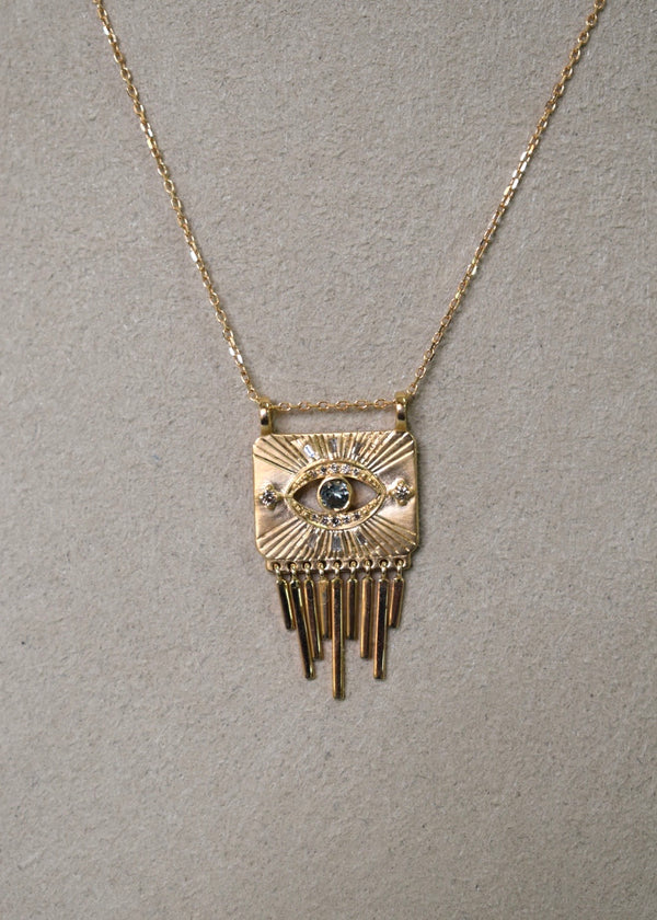 Celine Daoust Evil Eye Pendant Necklace